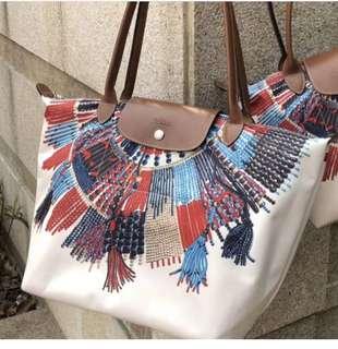 Longchamp Nylon Masai Collier Tote Bag