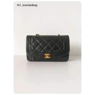 Chanel Calfskin Diana Flap Bag