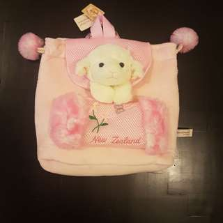 Novelty pink Girls bag with sheep.
