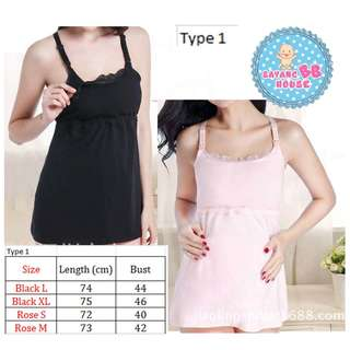 Woman Breastfeeding Handsfree Singlet Nursing Bra / Maternity singlet bra