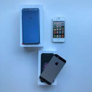 Huawei P10 64GB, iPhone SE 64GB, iPhone 4S 32GB