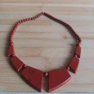 紅王-red Jasper 時款珠串 大約17吋