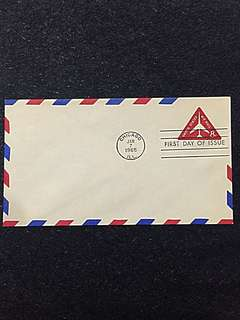 US 1965 8c Airmail Stamped Envelope FDC