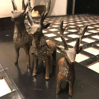 Antique Brass Deer (3pcs)