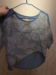 Aalis副線Tynvie透視印花上衣