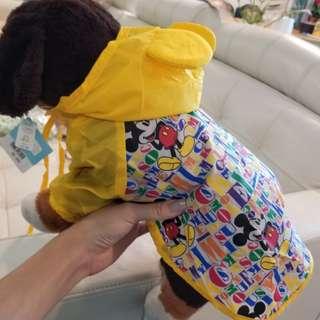 全新日本Disney狗狗雨褸