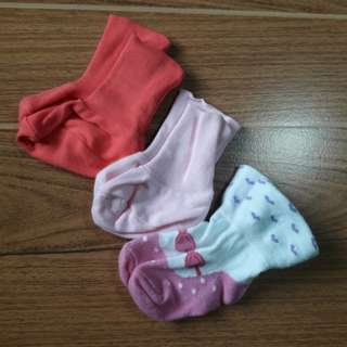 Baby Girl Socks | 0-6 mos
