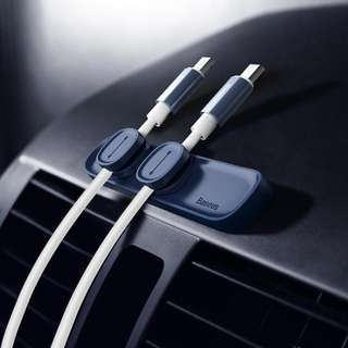 Magnetic Clip Cable Organizer For Car - Black