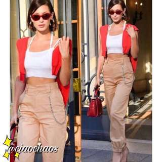 (4 designs/colours avail) kendal jenner wore this - spacey pants with free detachable chain • pre-order