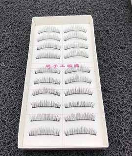 False eyelashes 10 pcs 1 box