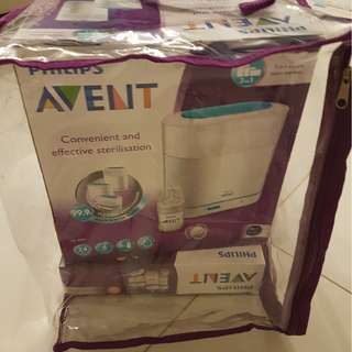 PHILIPS AVENT 3-in-1 Sterilise + Natural Teat Shaped Bottle Set FOR SALE!!!!