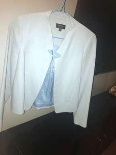 top shop baby powder blue blazer XS 34 like new