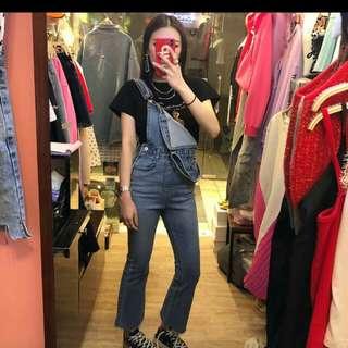 韓國最新深藍牛仔工人褲