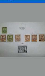 Malaya Johore Johor 1928-40 Watermarked Multiple Crown & Script C.A. Up To 50c - 7v Mint Malaya Stamps