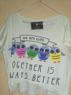 ALL ITEM 20k Crop top owl