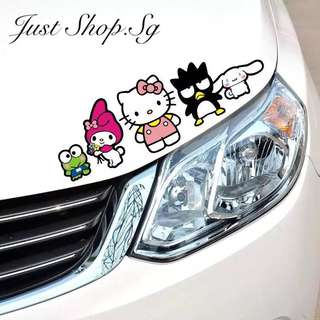 Hello Kitty And Friend  Car Sticker / Decal