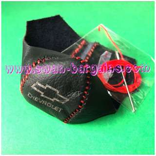 Chevrolet Cruze Orlando Automatic AT Gear Knob Genuine Leather Wrap With Laser Logo Marking in Red Stitches Trimming