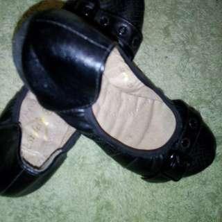 Black doll shoe
