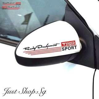 TRD Racing Side Mirror Car Sticker