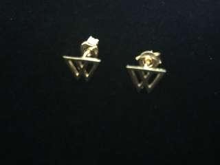 18K Double Triangle Earrings