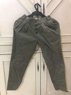 Army Green Capri Pants