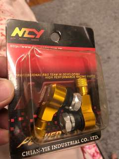 Motorcycle L-Shaped Tyre Valve Gold