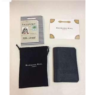 Authentic BNIB Barbara Rihl Paris Passport Holder - Navy Blue