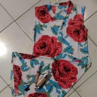 Pixel Rose Dress