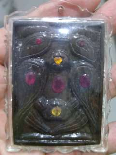 Thai amulet kruba beang salika made from sam roi yod relic stone