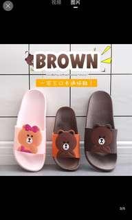 韓式Line 小熊,小童成人家具拖鞋🐻