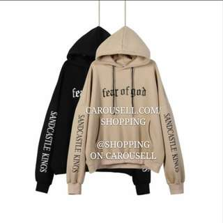 (2 Colors) Vetements Fear Of God Oversize Hoodie #easter20