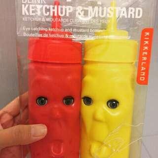 🚚 日本帶回 Kikkerland 眨眼 趣味 設計 調味罐 醬料瓶 廚房用品 很美式也適合交換禮物全新未拆 只有一組