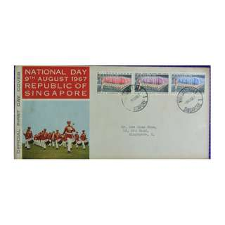 ***FDC  1967  Singapore National Day as in picture