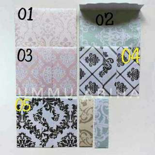 Luxury Money Envelopes Damask Series! 3For$10 (10 Pieces Each) Instock clearance sales!