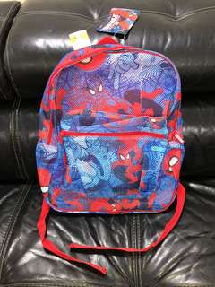 Marvel Boys Spiderman Mesh Backpack Blue (1 pcs)