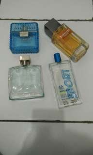 Azzaro Chrome, Mahogany Woods, Versace Man Eau Fraiche, The Body Shop