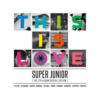 Super Junior THIS IS LOVE poster