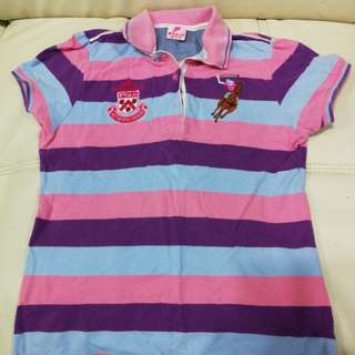Tshirt Polo pink for kids girls age 9-10