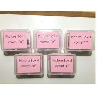 Montessori Pink Picture boxes