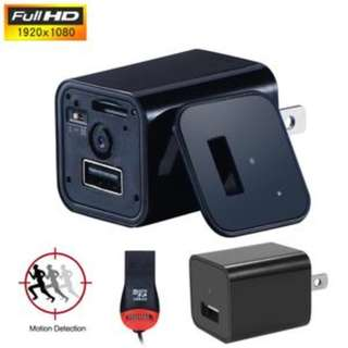 1080P Spy Camera Wall Charger UX-8 Mini Plug USB 2.0 TF 32G Anti Theft Safety