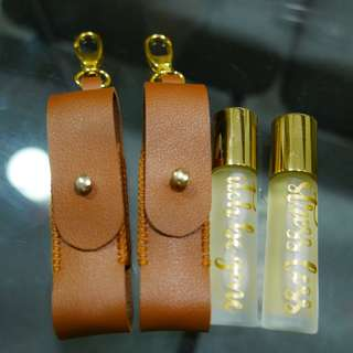 Essential Oil Leather Keychain for 10ml bottle