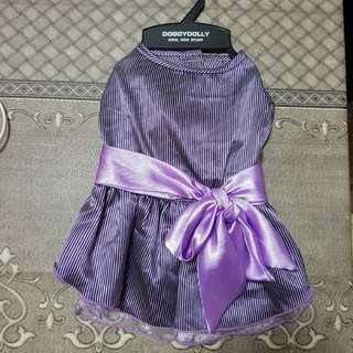 Doggydolly Purple Girl Stripe Dress - M