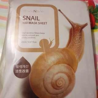 seaNtree 韓國蝸牛補濕亮澤面膜10片裝