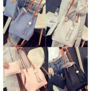 Korean Fashion 2in1 Set Bag