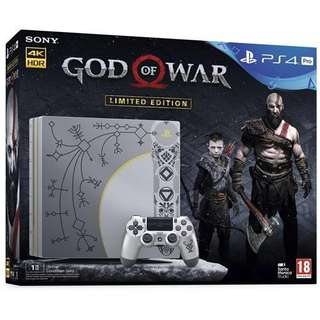 Wanted to Buy New/ Preowned God of War PS4 Pro Console.