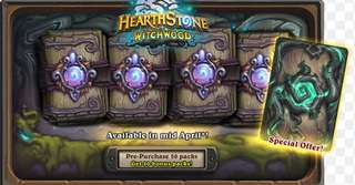 Hearthstone Witchwood expansion packs
