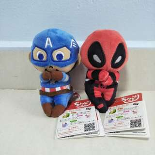 Captain America Deadpool Superhero Plush Toy