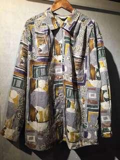 GV 古著 色框 復古襯衫