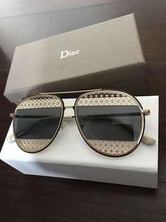 Dior -gold sunglasses