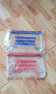 BNIB transparent multi purpose pouch
